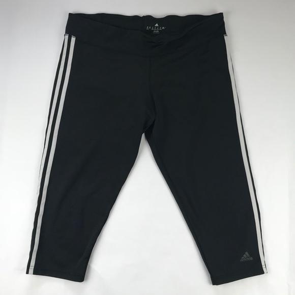 adidas pantaloni capri bianco e nero poshmark atletica